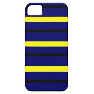 Dark Blue Derby Stripe iPhone 5 Case