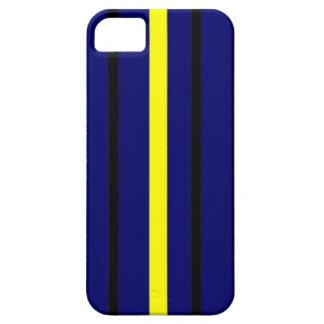 Dark Blue Derby Stripe iPhone 5 Cover