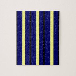 Dark Blue Derby Stripe Jigsaw Puzzle