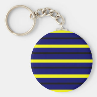 Dark Blue Derby Stripe Keychain