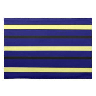 Dark Blue Derby Stripe Placemat