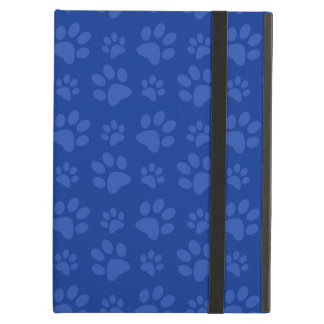 Dark blue dog paw print pattern case for iPad air