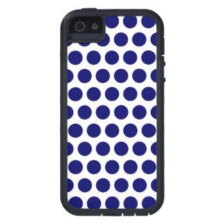 Dark Blue Dots iPhone 5 Case