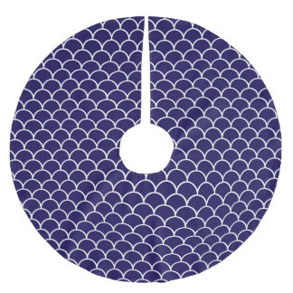 Dark Blue Dragon Scales Brushed Polyester Tree Skirt
