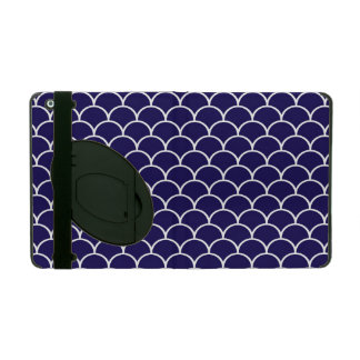 Dark Blue Dragon Scales iPad Cover