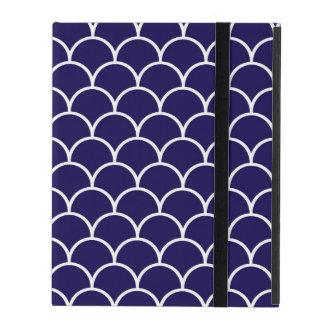 Dark Blue Dragon Scales iPad Folio Case