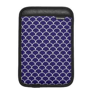 Dark Blue Dragon Scales iPad Mini Sleeves