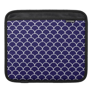 Dark Blue Dragon Scales iPad Sleeve