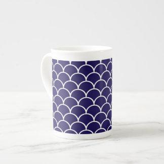 Dark Blue Dragon Scales Tea Cup