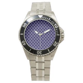 Dark Blue Dragon Scales Wristwatches