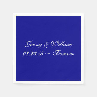 Dark Blue Durable Color Complementing Paper Napkins