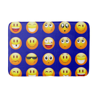 dark blue emojis bathroom bathmat bath mat