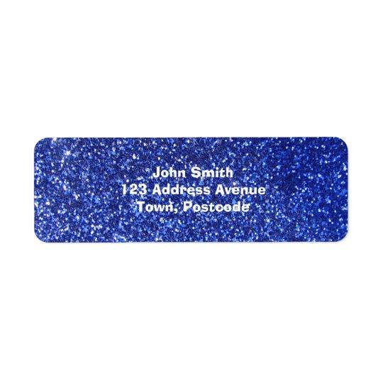 Dark blue faux glitter graphic