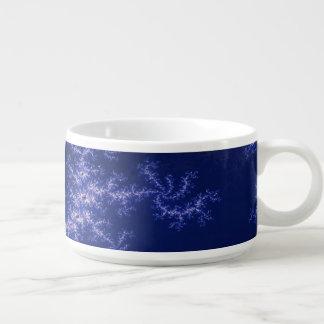 Dark Blue Fractal Chili Bowl