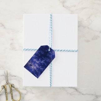 Dark Blue Fractal Pack Of Gift Tags