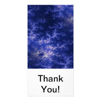 Dark Blue Fractal Photo Cards