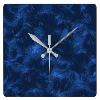Dark Blue Fur Image Wallclocks