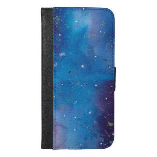 Dark Blue Galaxy iPhone 6/6s Plus Wallet Case