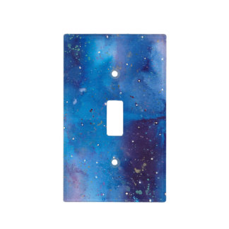 Dark Blue Galaxy Light Switch Cover