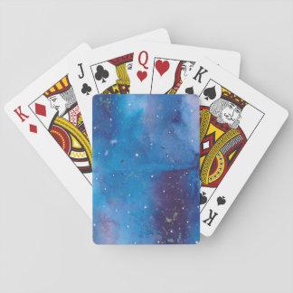 Dark Blue Galaxy Playing Cards