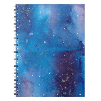 Dark Blue Galaxy Spiral Notebook