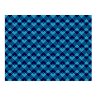 Dark Blue Geometric Pattern. Postcard