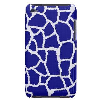 Dark Blue Giraffe Animal Print Barely There iPod Case