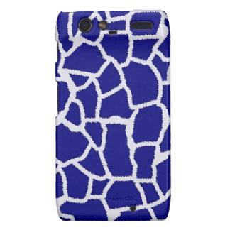 Dark Blue Giraffe Animal Print Droid RAZR Cover