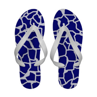 Dark Blue Giraffe Animal Print Sandals