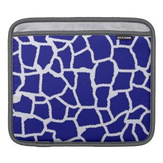 Dark Blue Giraffe Animal Print iPad Sleeve