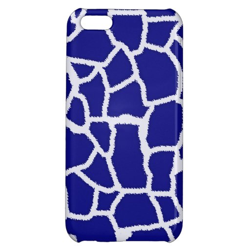 Dark Blue Giraffe Animal Print Case For iPhone 5C