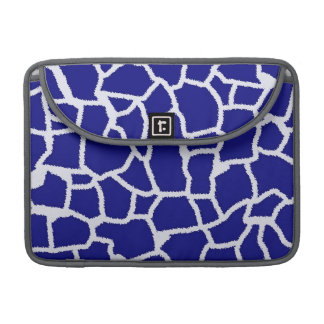Dark Blue Giraffe Animal Print MacBook Pro Sleeves
