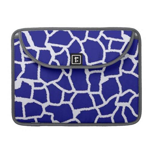 Dark Blue Giraffe Animal Print Sleeve For MacBooks