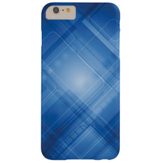 Dark blue hi-tech background barely there iPhone 6 plus case
