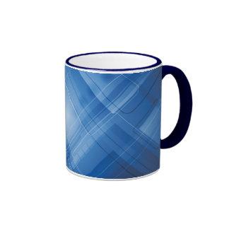 Dark blue hi-tech background mugs