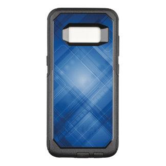 Dark blue hi-tech background OtterBox commuter samsung galaxy s8 case