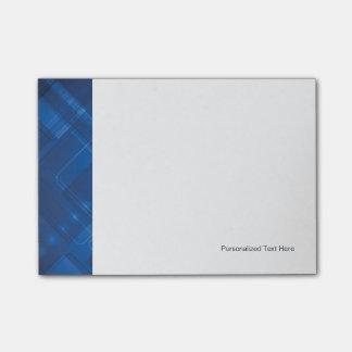 Dark blue hi-tech background sticky note