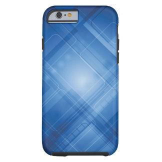 Dark blue hi-tech background tough iPhone 6 case