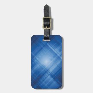 Dark blue hi-tech background travel bag tag