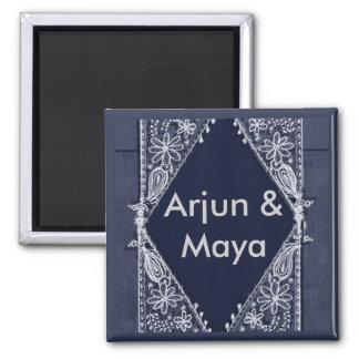 Dark Blue India design - Customized Magnet