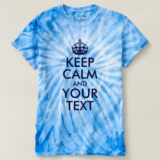 Dark Blue Keep Calm and Your Text T-shirt