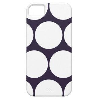 Dark Blue Large Polka Dot iPhone 5 Case