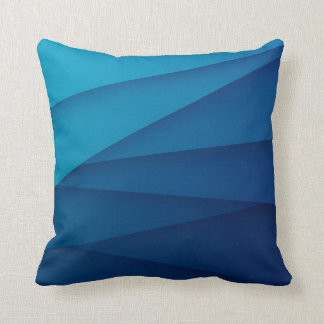 Dark Blue Layers Throw Pillow