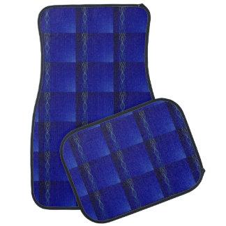 Dark Blue Lights Car Mat