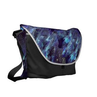 Dark Blue Liquid camo Bag Courier Bag
