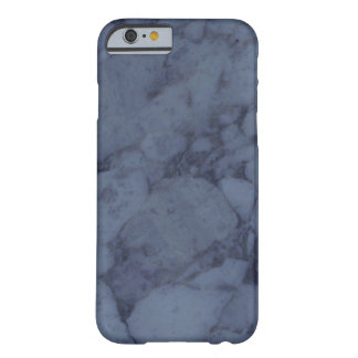 Dark Blue Marble Barely There iPhone 6 Case