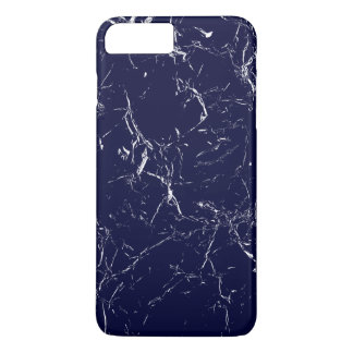 Dark Blue Marble Patterned iPhone 8 Plus/7 Plus Case