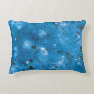 Dark Blue Marble Splat Accent Pillow