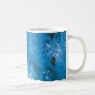 Dark Blue Marble Splat Coffee Mug