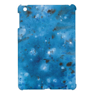 Dark Blue Marble Splat Cover For The iPad Mini